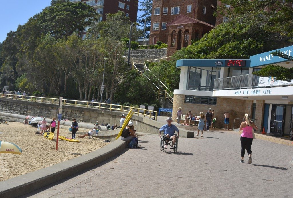 The long journey from Manly Surf Club back to my apartment. this was a daily ritual after I cam e out of hospital . this photo taken a month after surgery.