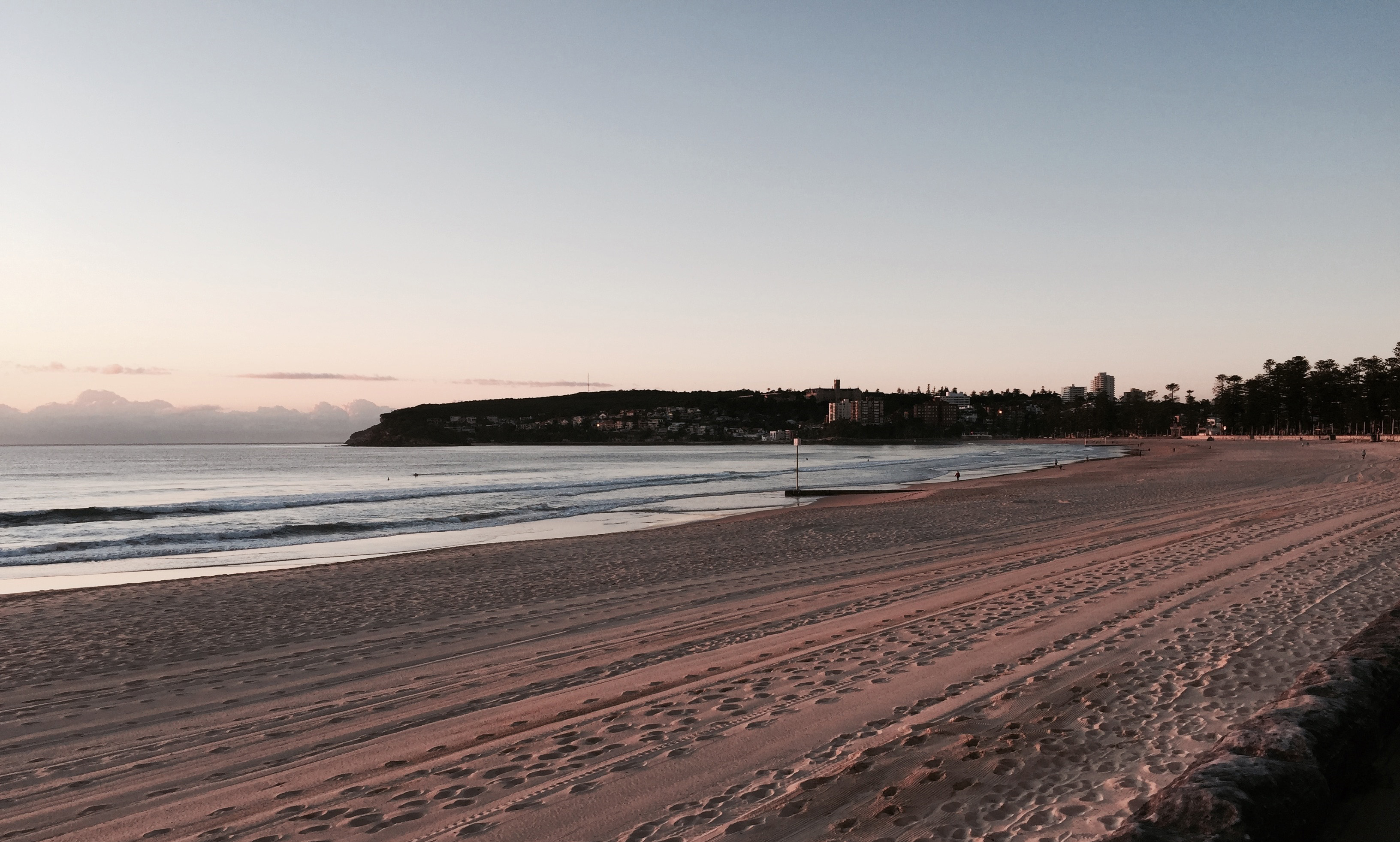 A perfect swimming track at Manly early spring 2015