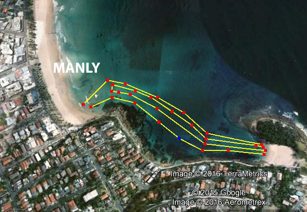 The Double at Manly. A decent swim of 2.8km before work. At least the day began well