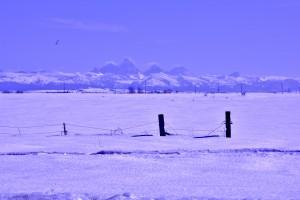 Grand Tetons, Wyoming from north of Idaho Falls, Idaho