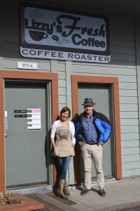 With founder and proprietor Liz Roquet at her eponymous  coffee bar in Ketchum, Sun Valley, Idaho